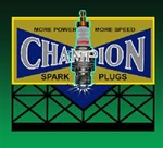 Micro Structures 5071 Animated Neon Billboard Champion Sparkplug Large