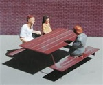 Micro Structures 609440 N Picnic Tables Etched-Metal Kit