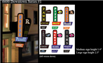 Micro Structures 66821 Animated Multi-Graphic Vertical Neon Sign Kit w/6 Overlays Downtown Series #1 Left Medium