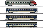 Marklin 42175 HO Mark IV Express 4-Car Passenger Set 3-Rail Bern-Lotschberg-Simplon Railroad BLS Era V 2000