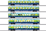 Marklin 43878 HO 5-Car Tourism Passenger Set 3-Rail Exclusiv German Railroad DB AG Era V 1995 Tourism Scheme