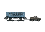 Marklin 48822 HO Type G 10 Kaldewei Boxcar w/ Tractor and Road Rollers 3-Rail Exclusiv German Federal Railroad