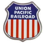 Microscale 10002 Embossed Die-Cut Metal Sign Union Pacific