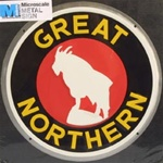 Microscale 10004 Embossed Die-Cut Metal Sign Great Northern
