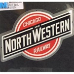 Microscale 10011 Embossed Die-Cut Metal Sign Chicago & North Western