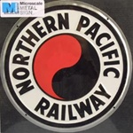 Microscale 10013 Embossed Die-Cut Metal Sign Northern Pacific