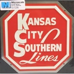 Microscale 10014 Embossed Die-Cut Metal Sign Kansas City Southern