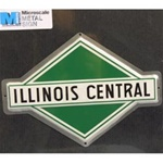 Microscale 10015 Embossed Die-Cut Metal Sign Illinois Central