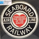 Microscale 10019 Embossed Die-Cut Metal Sign Seaboard Air Line