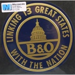 Microscale 10020 Embossed Die-Cut Metal Sign Baltimore & Ohio