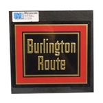 Microscale 10023 Embossed Die-Cut Metal Sign Chicago Burlington & Quincy