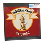 Microscale 10025 Embossed Die-Cut Metal Sign Boston & Maine