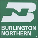 Microscale 10027 Embossed Die-Cut Metal Sign Burlington Northern