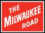 Microscale 10045 Embossed Die-Cut Metal Sign Milwaukee Road