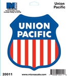 Microscale 20011 Die-Cut Vinyl Stickers Union Pacific Without the word Railroad