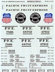 Microscale 2420 G Pacific Fruit Express PFE R-40-23 Class 40' Reefers pkg 2 460-2420