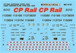 Microscale 4137 HO Canadian Pacific CP Mini-Cal National Steel Car 3-Bay Centerflow Covered Hoppers 1994-1997