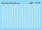 Microscale 4390 HO Mini-Cal Conspicuity Markings 2005+ Reflector Stripes for Locos & Cars