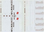 Microscale 48321 O Railroad Decal Set Milwaukee Road Diesels & Scheme 1960-1983 Pkg 2