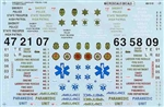 Microscale 48510 O Decal Set Trucks & Trailers Markings for Emergency Vehicle Police Fire Ambulance 1970+