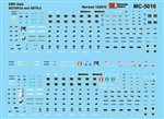 Microscale 5016 HO Mini Cal Railroad Decal Set EMD SD70ACe & SD70-2 Data Only