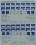 Microscale 604095 N Railroad Decal Set APC Thrall Double Stack 1986+