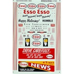 Microscale 87959 HO Gas Station Sign Sets Esso 1946-65