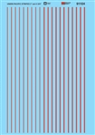 "Microscale 91105 HO HO-Scale Stripes 3 & 4-3/4"" 7.6 & 12.1cm Wide 460-91105"