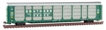 Micro-Trains 11100091 N 89' Tri-Level Enclosed Auto Rack Southern Railway 159009