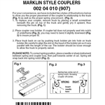 Micro Trains 002 04 010 Couplers Marklin Compatible Body Mount Replacements 3 Pairs