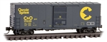 Micro-Trains 024 00 450 N 40' Single-Door Boxcar No Roofwalk Chessie System C&O 19335