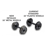 "MTL312020 Micro Trains Line N 33"" Metal Wheels 12/ 489-312020"
