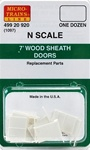 Micro Trains 499-20-920 Box Car Doors 7' Wood Single /Double Sheathed Cars Pkg(12)