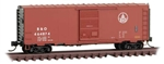 Micro-Trains 7300290 N 40' Single-Door Boxcar No Roofwalk Baltimore & Ohio 464874