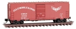Micro-Trains 7300540 N 40' Single-Door Boxcar No Roofwalk Gulf Mobile & Ohio 53002