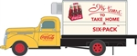 Classic Metal Works 30597 HO 1941-1946 Chevrolet Reefer Delivery Truck Assembled Mini Metals Coca-Cola Take Home a Six Pack