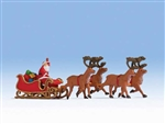 Noch HO 15924 Santa Claus with Sleigh and 4 Reindeer