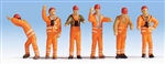 Noch 36275 N German Railroad Switchmen Uniforms pkg 6 528-36275