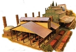 N Scale Architect 10054 N C & H Brick & Block Company Laser Cut Wood Kit