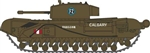 ODUNCHT002 Oxford Diecast USA N 42 Churchill Mk.III Tank 553-NCHT002