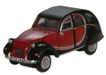 ODUNCT001 Oxford Diecast USA N Citroen 2CV Charlston Blk 553-NCT001