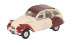 ODUNCT005 Oxford Diecast USA N Citroen 2CV D.Plm/Custard 553-NCT005