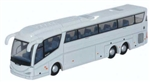ODUNIRZ005 Oxford Diecast USA N Scania Bus White 553-NIRZ005