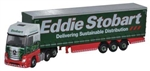 Oxford NMB001 N Mercedes-Benz Actros MP4 GSC w/ Side Curtain Trailer Assembled Eddie Stobart Red 553-NMB001