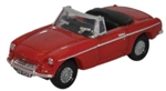 ODUNMGB001 Oxford Diecast USA N MG MGB Tarten Red 553-NMGB001