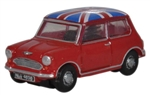 ODUNMN001 Oxford Diecast USA N Austin Mini Red/Union Jck 553-NMN001