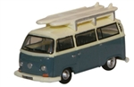 ODUNVW003 Oxford Diecast USA N VW Minibus w/Surfboards 553-NVW003