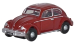 ODUNVWB002 Oxford Diecast USA N VW Beetle ruby red 553-NVWB002
