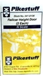 Pikestuff 8106 N Railcar Height Door 2/ 541-8106 PKS8106