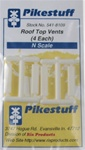 Pikestuff 8109 N Roof Top Vents 4/ 541-8109 PKS8109